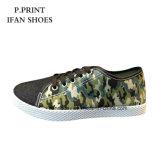 新しいカムフラージュのズック靴の良質の工場靴