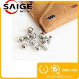 Esfera de aço inoxidável 3.175mm de AISI304 G100 3.969mm 4.763mm