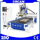3 axe machine de découpe de défonceuse à bois à commande numérique en bois avec changeur automatique linéaire