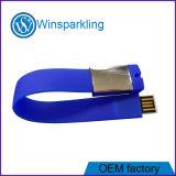 Personalizadas Pulsera de caucho de silicona de disco flash USB con Logo Debossed o Pie de imprenta