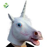 precio de fábrica Pegasus Unicornio blanco de látex de caucho de la cabeza Creepy Máscara la máscara de Halloween