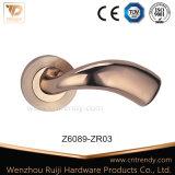 Hohler quadratischer Zink-Legierungs-Tür-Hebelgriff mit Zylinder Rose (Z6090-ZR09)
