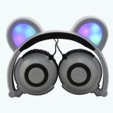LEDライトが付いているくまの耳のヘッドホーン