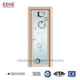 浴室のための曇らされたガラスデザインアルミニウムドア