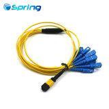 12 Core оптического кабеля MTP/упу-SC/блок защиты и коммутации оптоволоконный кабель питания исправлений