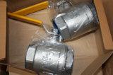 Valvula Kugelkette Inox T316 T304 2PC verlegtes Kugelventil