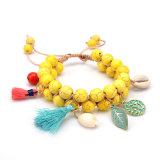 Série Sea Shell d'été Tassel Turquoise Bracelet Perles