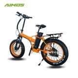 Bicicletta elettrica piegante astuta della gomma grassa della montagna di AMS-Tdn-02 250W