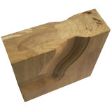 Porte en bois solide intérieure foncée de Brown de deux panneaux