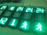 Semáforo de En12368 300m m LED Pedestiran con el temporizador de la cuenta descendiente