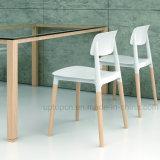 (SP-UC018) 대중음식점에 의하여 이용되는 목제 다리 백레스트 플라스틱 식사 의자