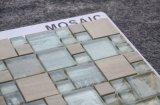 装飾的な大理石の組合せのガラス透過自然な石造りのモザイク表パターン