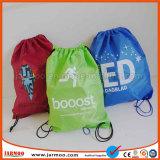 Fashionalの普及した印刷された学校学生のドローストリング袋