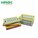 Engradado de plástico dobráveis coloridos pequena caixa de armazenamento para a Vida Cotidiana