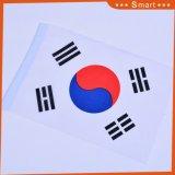 Поощрение 14x21см пользовательские печатаются 100% полиэстер стороны развевается флаг