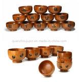 Tazón de fuente de madera de la varia talla de la alta calidad de la insignia del OEM