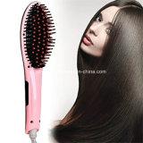 Calentamiento rápido nuevo cepillo de pelo Plancha de vapor rápido con spray
