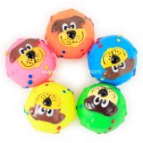Multi-Farben Haustier-Produktfrisbee-Kugel-Seil-Plastikgummihundespielzeug