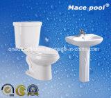 Toilette en deux pièces et bassin d'articles de toilette sanitaire de salle de bains