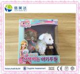 Jolie fille cadeau chien en peluche jouet électronique de la marche de la musique