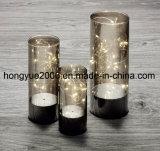 Ensemble chaud de vente de lumière en verre grise de fumée pour Noël