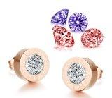 De afneembare Oorringen voor Vrouwen namen de Gouden Oorringen van de Nagel met de Verschillende Juwelen van de Manier van de Kristallen van Kleuren toe
