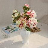 Silk künstliche rote Großhandelspfingstrose blüht gefälschte Pfingstrose-Blumen für Wedding&Home Dekoration