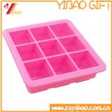 LFGB silicona de 9 celdas de la bandeja de cubitos de hielo hielo /el molde de silicona, molde de tarta