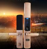 Bloqueo seguro determinado de la seguridad del hotel del bloqueo de puerta de la huella digital de Digitaces de puerta de la selección Keyless electrónica elegante del bloqueo