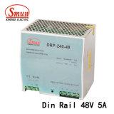 Le Dr-240-48 Type de rail DIN 240W 48VCC 5A Alimentation de Puissance de commutation