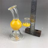 노란 Glassbongs 공상 디자인 유리제 연기가 나는 수관