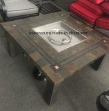 안뜰 정원 알루미늄 테이블 가구를 위한 옥외 사각 BBQ 화재 구덩이 금속 테이블
