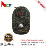 O basebol feito sob encomenda de Camo Strapback do bordado da alta qualidade de Guangdong ostenta chapéus do golfe