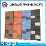 Azulejo de azotea revestido de madera de metal de construcción de la piedra colorida del material