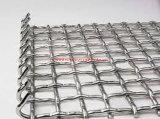 Оцинкованной стали и нержавеющей стали обжат квадратных из проволочной сетки