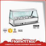 Étalage chaud de nourriture de carter de l'acier inoxydable 8 (glace incurvée) (HBS-8C)