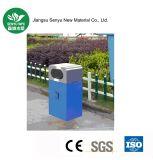 Poder de basura inoxidable del cubo de basura al aire libre para la escuela
