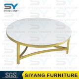 Moderner Möbel-Kaffee-Glastisch-Oberseite-Marmor-Tisch-Kaffeetisch