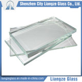 2mm-25mm le verre de construction/verre trempé/Ultra depuis 1986 de verre flotté clair