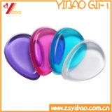La vente en gros l'outil de maquillage de silicone de caoutchouc de silicone transparent de bouffée de bouffée de caoutchouc éponge (XY-SP-237)