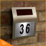 屋外の照明LED屋家番号ライト太陽ホームDoorplateランプ