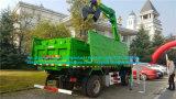De Vrachtwagen van de Kipper van de Stortplaats van het Type van Leiding van FAW 4X2 LHD met Kraan