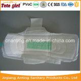 Senhora ultra fina confortável e respirável guardanapo sanitário do algodão macio descartável da alta qualidade do aníon
