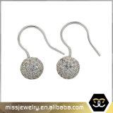 CZ Micro allanar el Hip Hop Balón de Oro 18K Drop Earrings Mjce008