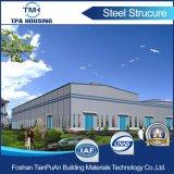 Construction de structure métallique avec la conformité d'OIN pour l'entrepôt d'atelier