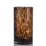 Decoración de cristal grande del florero del cilindro del leopardo de lujo al por mayor