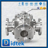 Valvola a sfera di gestione leva dell'acciaio inossidabile di corrosione di conclusione della flangia di modo CF8m di Didtek 4 anti
