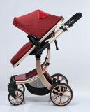 Le promeneur de bébé de luxe de pli de modèle neuf avec l'Européen a reconnu
