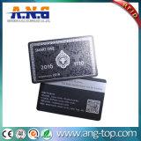 Do preto UV da impressão do ouro cartão esperto da identificação