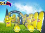colore giallo gonfiabile variopinto ed il nero di ostacolo di Paintball